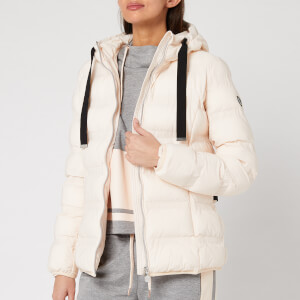 Emporio Armani EA7 Women's Down Jacket with Black Trims - Light Pink