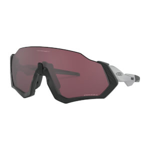 Oakley Flight Jacket Sunglasses - Matte Black Silver/Prizm Road Black