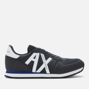 Armani Exchange Men's Nylon Running Style Trainers - Navy/White