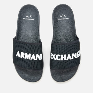 Armani Exchange Men's Slide Sandals - Blue/Optical White
