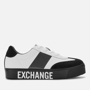 Armani Exchange Women's Flatform Trainers - White/Black