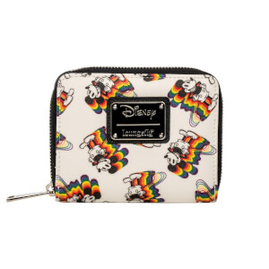 Loungefly Disney Mickey Mouse Rainbows Mini Zip-Around Wallet