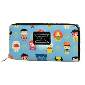 Loungefly X-Men Chibi Character AOP Zip Around Wallet