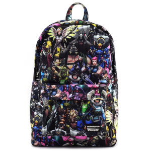 Loungefly Overwatch Character AOP Nylon Backpack