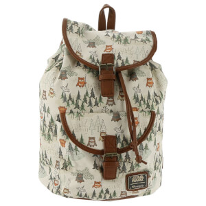 Loungefly Star Wars Ewok Forest Canvas Backpack