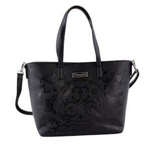 Loungefly Floral Sugar Skull Tote Bag