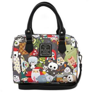 Loungefly Disney The Nightmare Before Christmas Chibi Characters AOP Mini Duffle Bag
