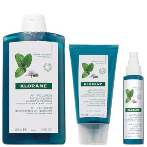 KLORANE Detoxifying Anti-Pollution Hair and Scalp Regimen Bundle for Ultimate Shine (Worth $58)