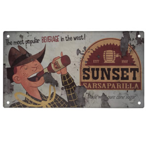 Fallout Sunset Sarsaparilla Metal Sign