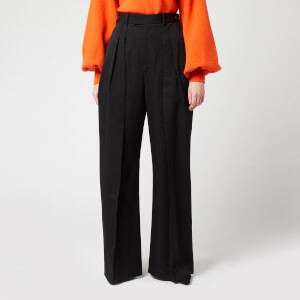 JW Anderson Women's High Waisted Wide Leg Trousers - Black