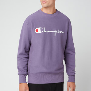 Champion Men's Big Script Sweatshirt - Purple