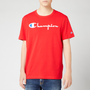Champion Men's Big Script Crew Neck T-Shirt - Red