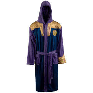 Marvel Thanos Outfit Fleece Bathrobe - Adult