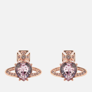 Vivienne Westwood Women's Ariella Earrings - Pink Gold Light Amethyst