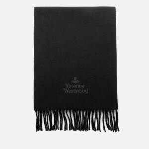 Vivienne Westwood Women's Wool Embroidered Scarf - Black