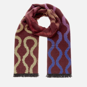 Vivienne Westwood Women's Fire Squiggle Scarf - Oxblood