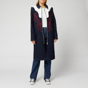 Levi's Women's Made and Crafted Empire Coat - Empire Blue