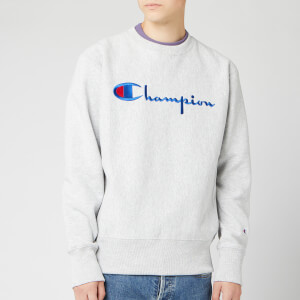 Champion Men's Big Script Sweatshirt - Grey Marl