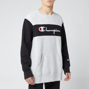 Champion Men's Colour Block Crew Sweatshirt - Grey