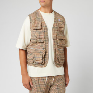 Champion X Clothsurgeon Men's Zip Through Utility Vest - Brown Check