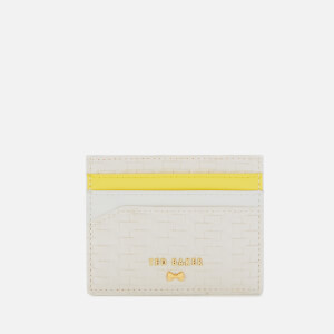 Ted Baker Women's Mabes Raffia Card Holder - White