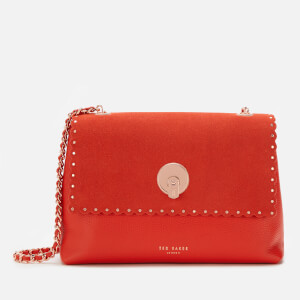 Ted Baker Women's Sultane Studded Circle Lock Cross Body Bag - Red