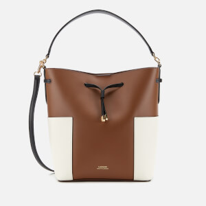 Lauren Ralph Lauren Women's Debby Medium Drawstring Bag - Field Brown/Vanilla/Black