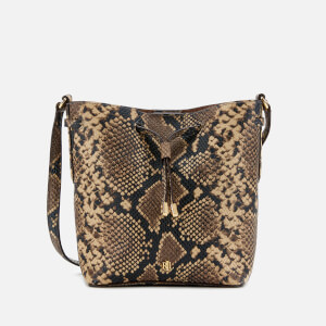 Lauren Ralph Lauren Women's Debby Snake Print Mini Drawstring Bag - Oatmeal Multi