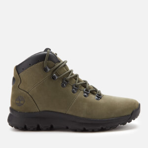 Timberland Men's World Hiker Mid Boots - Dark Green Nubuck