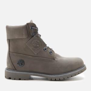 Timberland Women's 6 Inch Premium Boots - Medium Grey Nubuck