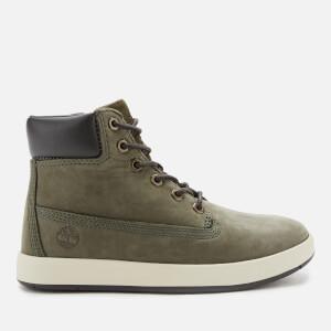 Timberland Kids' Davis Square Boots - Dark Green Nubuck