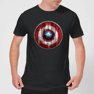 Marvel Captain America Wooden Shield Men's T-Shirt - Black