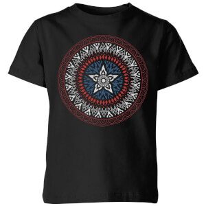 Marvel Captain America Oriental Shield Kids' T-Shirt - Black