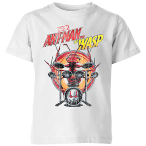 Marvel Drummer Ant Kids' T-Shirt - White