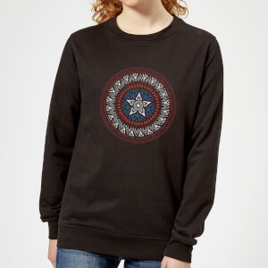 Marvel Captain America Oriental Shield Women's Sweatshirt - Black