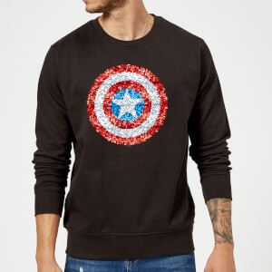 Marvel Captain America Pixelated Shield Sweatshirt - Black