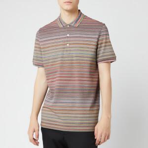 Missoni Men's Short Sleeve All Over Stripe Polo Shirt - Multi
