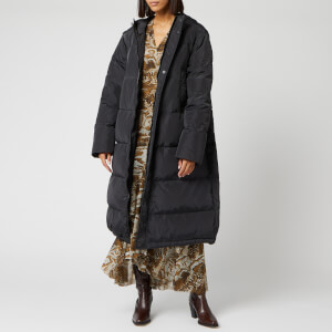 Ganni Women's Tech Down Long Coat - Phantom