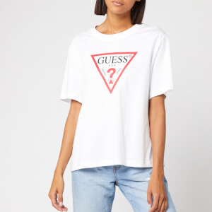 Guess Women's Short Sleeve Original T-Shirt - White