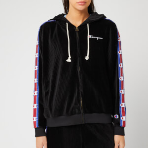 Champion Women's Cord Full Zip Hoody - Black