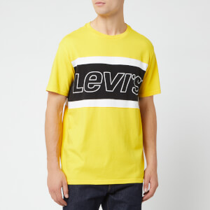 Levi's Men's Color Block T-Shirt - Brilliant Yellow/White