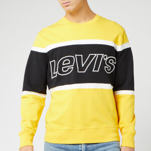Levi's Men's Pieced Crew Sweatshirt - Brilliant Yellow
