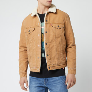 Levi's Men's Type 3 Canvas Sherpa Trucker Jacket - Beige