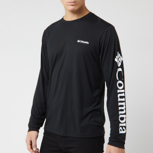Columbia Men's Miller Valley Long Sleeve Graphic T-Shirt - Black/White