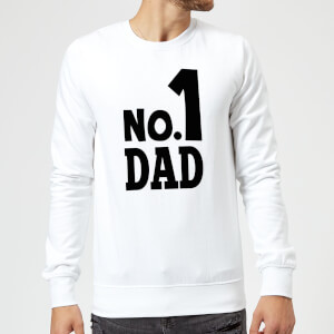 No. 1 Dad Sweatshirt - White