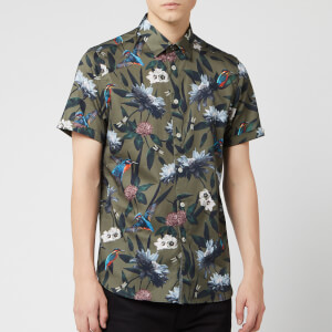 Ted Baker Men's Johnn Patterned Shirt - Khaki