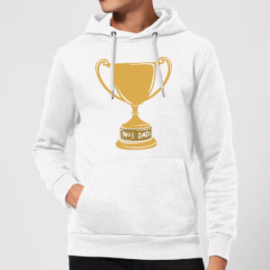 No.1 Dad Trophy Hoodie - White