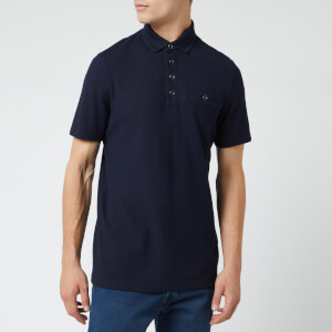 Ted Baker Men's Textured Polo Shirt - Navy
