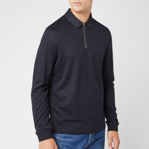 Ted Baker Men's Mytype Long Sleeve Polo Shirt - Navy