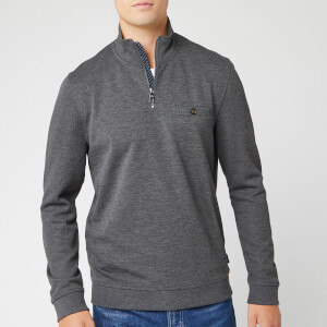 Ted Baker Men's Muggie Half Zip Funnel Neck Sweatshirt - Charcoal